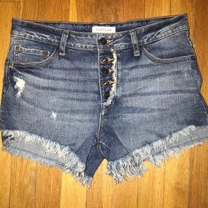 Pants - Denim Frayed Shorts